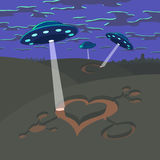 Valentine's Day UFO Royalty Free Stock Image