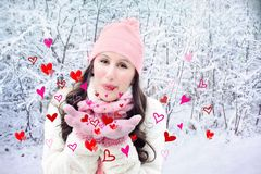Valentine'S Day, Valentine, Hearts Royalty Free Stock Images