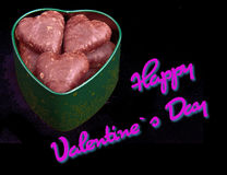 Valentine`s day. Valentines day gift heart cakes Stock Photos