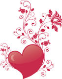 Valentine's day vector. Isolated on white royalty free illustration
