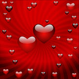 The Valentine's day, vector abstract background Royalty Free Stock Photo