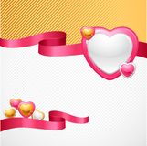 Valentine's Day vector background. Gift card and Royalty Free Stock Image