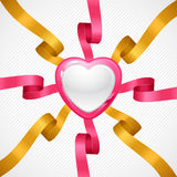 Valentine's Day vector background. Gift card and Royalty Free Stock Images