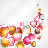 Valentine's Day vector background. Gift card and Royalty Free Stock Photos