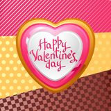 Valentine's Day vector background. Gift card and Royalty Free Stock Photo