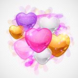 Valentine's Day vector background. Gift card and Stock Images
