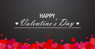 Valentine`s day vector background Royalty Free Stock Image