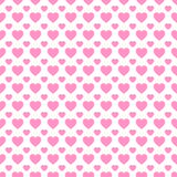 Valentine`s Day vector background. Hearts icons seamless pattern. Abstract repeated texture. Pink love hearts symbols stock illustration