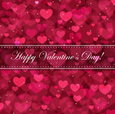 Valentine`s day vector background Stock Photography