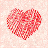 Valentine's day vector card Royalty Free Stock Images