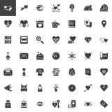 Valentine`s Day vector icons set vector illustration