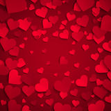 Valentine's day vector illustration, background with red hearts Stock Images