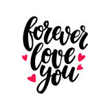 Valentine s Day vector lettering . Isolated handwriting calligraphy love Stock Image
