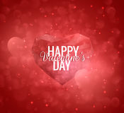 Valentine`s Day vector low poly heart background. EPS10. Stock Photography