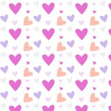 Valentine`s Day vector seamless pattern Royalty Free Stock Photography