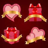 Valentine's day vector set background. Stock Photos