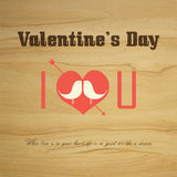 Valentine's day Vector vintage labels Stock Image