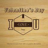 Valentine's day Vector vintage labels Royalty Free Stock Photography