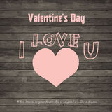 Valentine's day Vector vintage labels Royalty Free Stock Photo