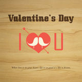 Valentine's day Vector vintage labels Stock Photo