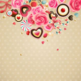 Valentine`s Day vintage Royalty Free Stock Photography