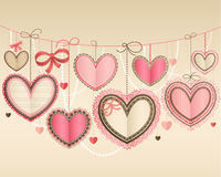 Valentine`s Day vintage royalty free illustration