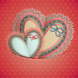 Valentine`s Day vintage card Royalty Free Stock Image