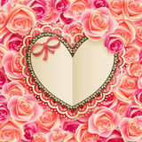 Valentine`s Day vintage card Royalty Free Stock Photo