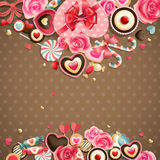 Valentine`s Day vintage card Stock Photography
