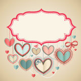 Valentine`s Day vintage card Royalty Free Stock Photography