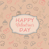 Valentine`s Day vintage card with place for text. Royalty Free Stock Photos