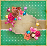 Valentine`s Day vintage frame Royalty Free Stock Photography