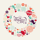 Valentine`s day vintage greeting card Royalty Free Stock Photo