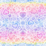Valentine's day watercolor hearts background Royalty Free Stock Image
