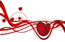 Valentine's day wave Stock Photography