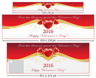 Valentine's Day web banners Royalty Free Stock Photography