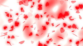 Valentine`s day and wedding abstract background,flying red hearts and particles. Symbols of love, and wedding. Valentine`s day and wedding abstract background stock footage
