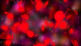 Valentine`s day, wedding abstract background,flying red hearts. Symbols of love, and wedding. Red shimmering background.  stock footage