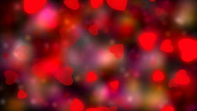 Valentine`s day, wedding abstract background,flying red hearts. Symbols of love, and wedding. Red shimmering background.  stock video footage