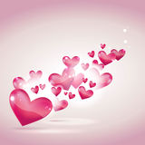 Valentine's day or wedding card and background. Vector illustration - Valentine's day or wedding card and background Royalty Free Stock Photo