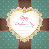 Valentines day or wedding card. Royalty Free Stock Images