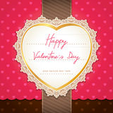 Valentines day or wedding card. Stock Image
