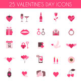 Valentine's Day and wedding icons. Love concept in flat style. Vector illustration EPS10 vector illustration