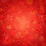 Valentine's Day and wedding romantic blurred heart background Royalty Free Stock Photos