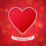 Valentine's Day and wedding romantic heart background Stock Photography