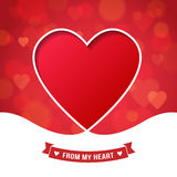 Valentine's Day and wedding romantic heart background Royalty Free Stock Image