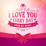 Valentine's Day and wedding romantic heart background Royalty Free Stock Photos
