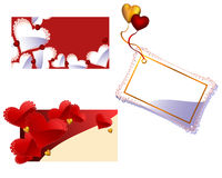 Valentine's day or Wedding vector greeting cards Stock Image