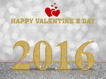 Valentine's Day 2016 white bokeh background. Valentine's Day 2016 on white bokeh background Stock Image