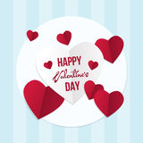 Valentine's day wish card vector illustration Stock Image